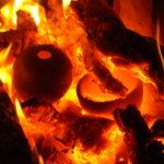 Bol Raku au feu